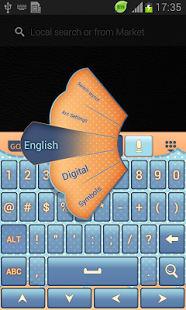 Diseño lindo del teclado