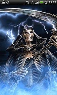 Blue Fire Grim Reaper LWP