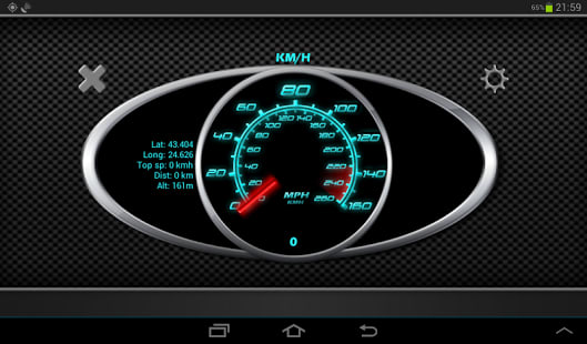 Brillante GPS Velocímetro