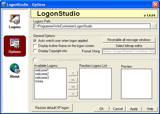 LogonStudio XP