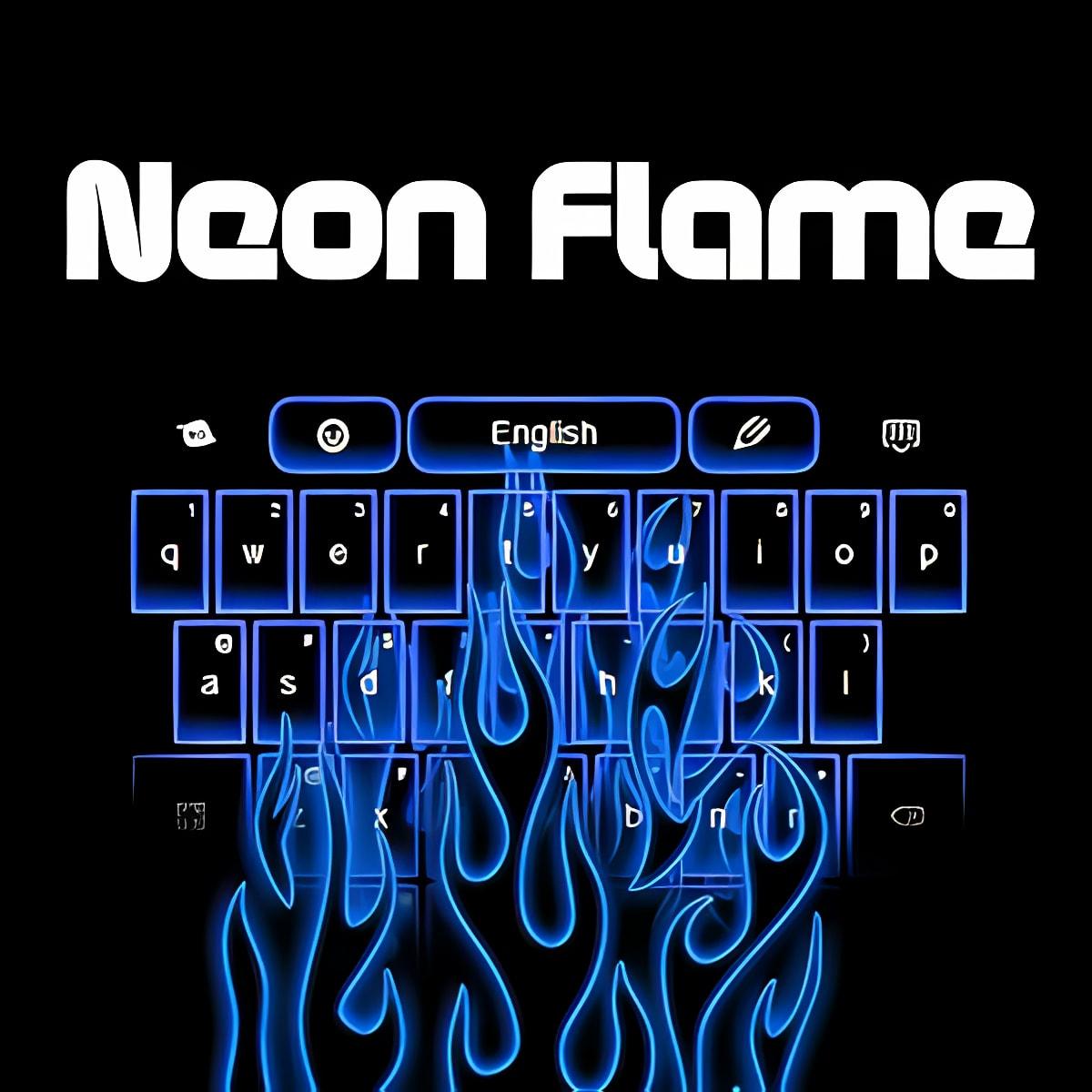 Llama Neon Teclados