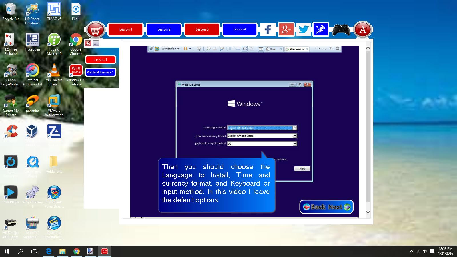 Windows 10 Tutorial Demo
