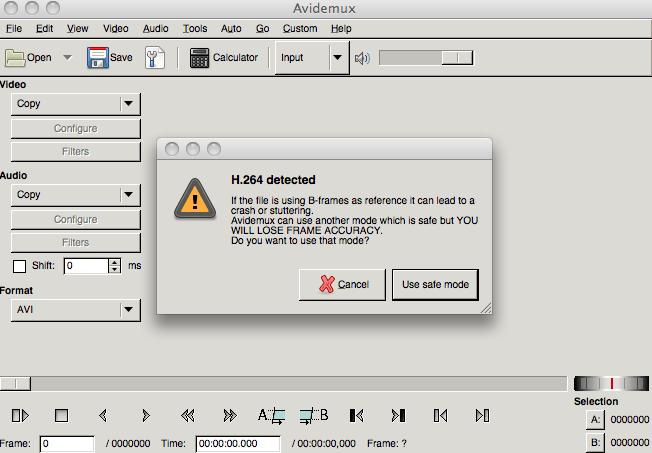 Avidemux 2.6.8