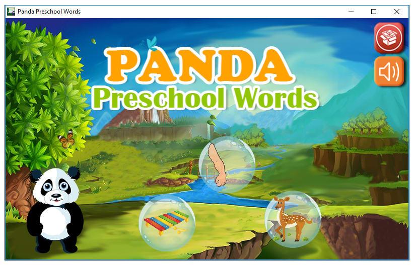 Panda Preschool Words