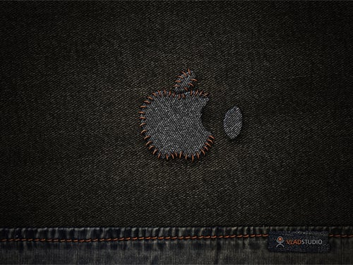 Apple Stitched Wallpaper