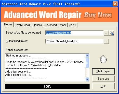 Advanced Word Repair