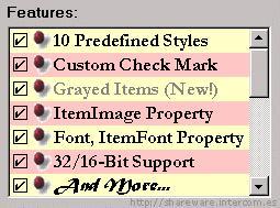 CheckListBox ActiveX/VBX