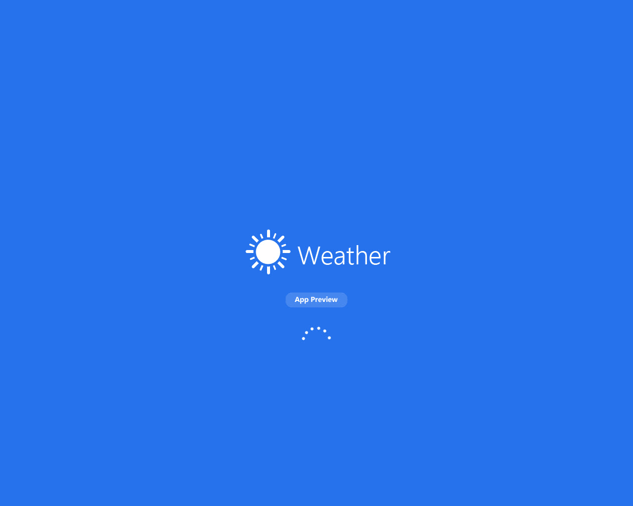 Weather for Windows 10