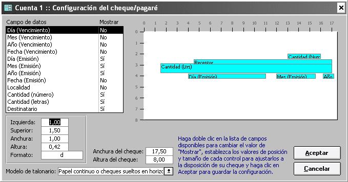 formatos de cheques en word