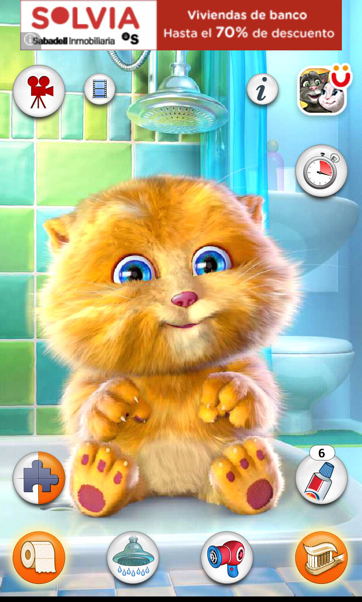 Tom le chat qui parle en francais