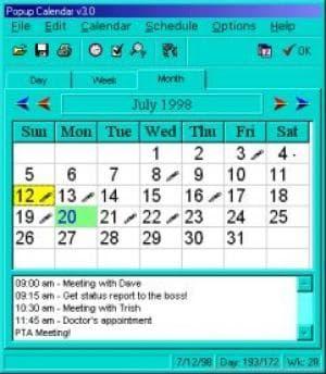 Popup Calendar