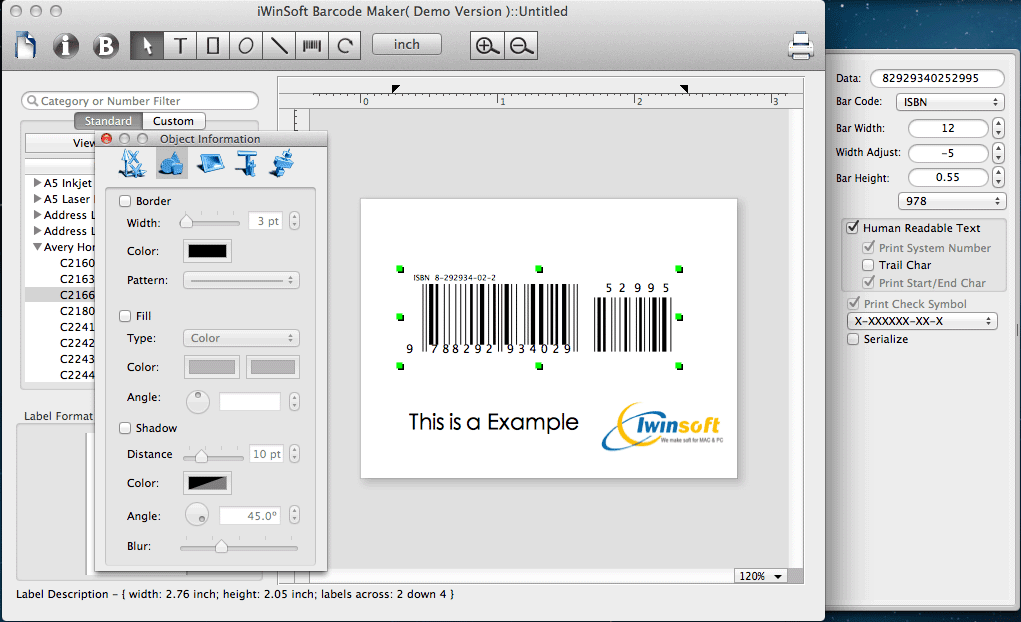 iWinSoft Barcode Maker for Mac