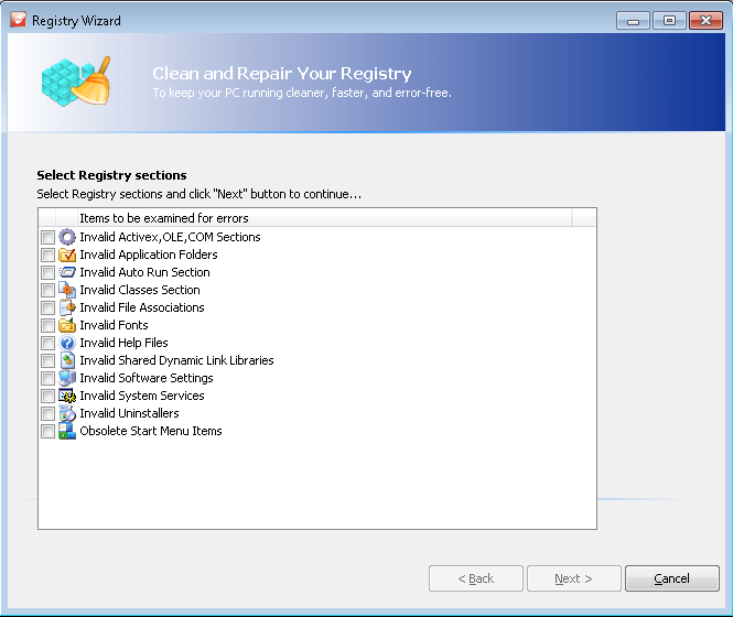 Weeny Free Registry Cleaner
