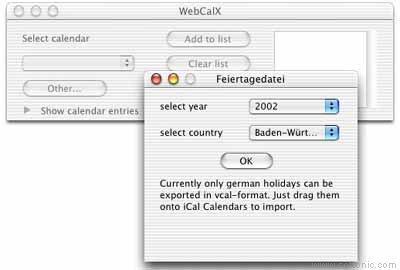 WebCalX