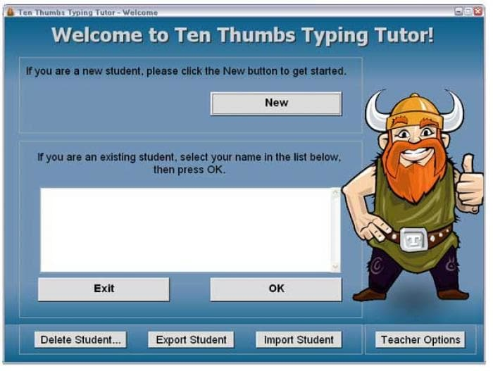 Ten Thumbs Typing Tutor