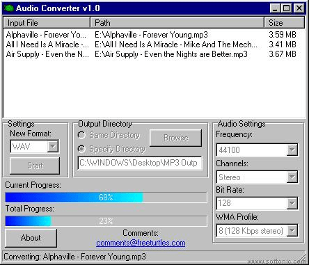 Freeturtles Audio Converter