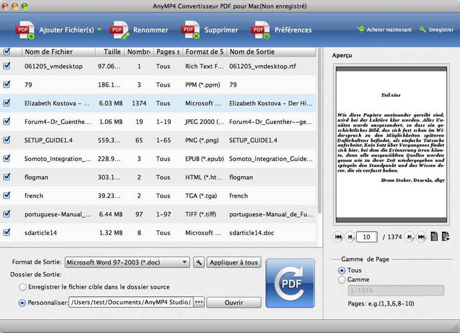 AnyMP4 PDF Converter für Mac