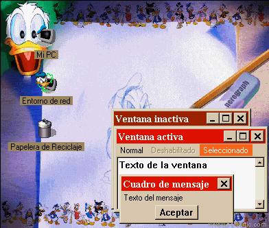 Donald Duck Desktop Theme