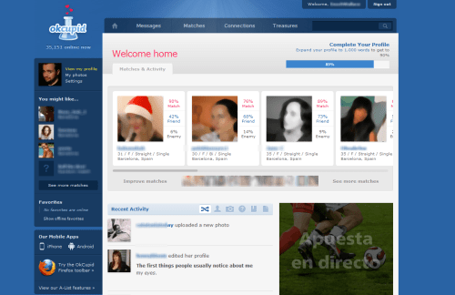 Online social network dating sites