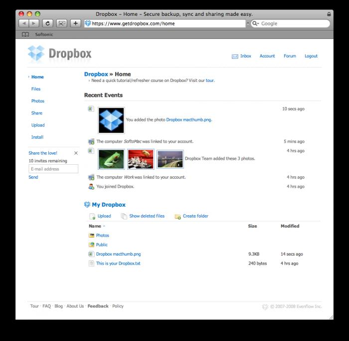 Dropbox para Mac - Download