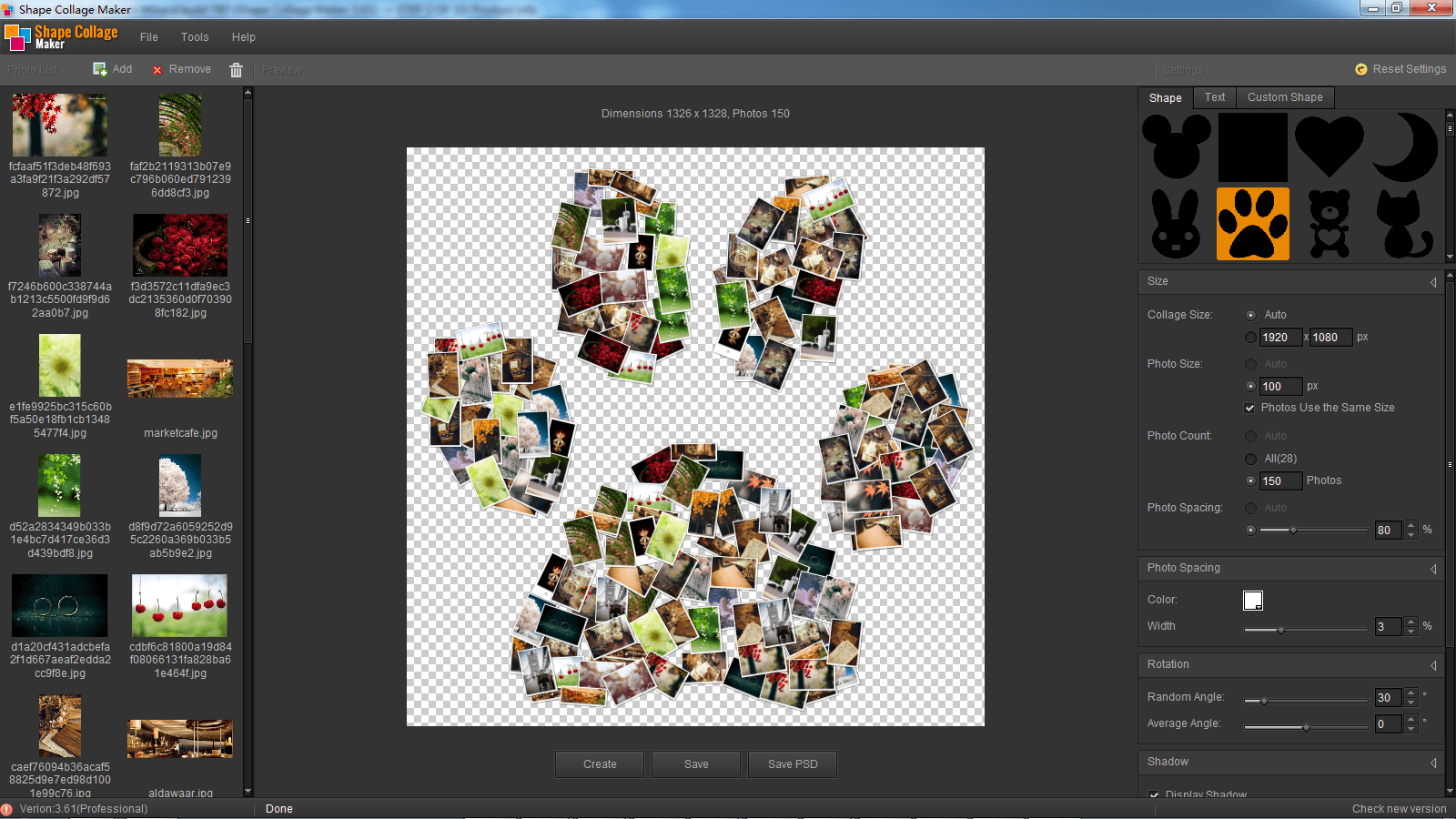 shape collage maker download. Black Bedroom Furniture Sets. Home Design Ideas