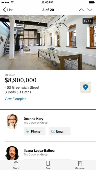 The NYTimes Real Estate app