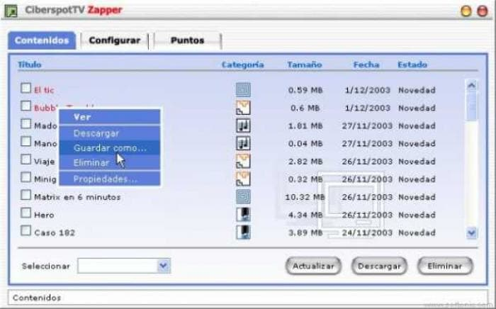 CiberspotTV Zapper