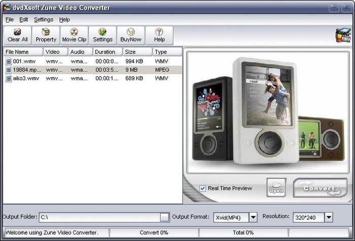 dvdXsoft Zune Video Converter