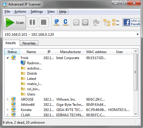 Advanced IP Scanner 2.4.2601