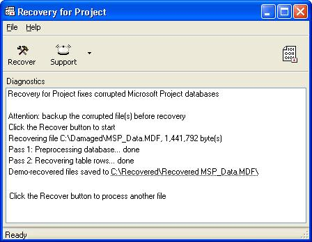 Recovery for Project