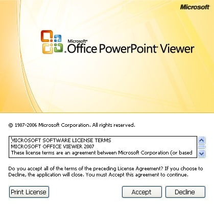 MICROSOFT POWERPOINT VIEWER 2007