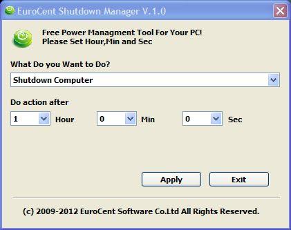 EuroCent Shutdown Manager