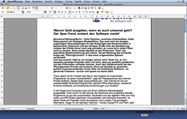 is openoffice compatible with mac