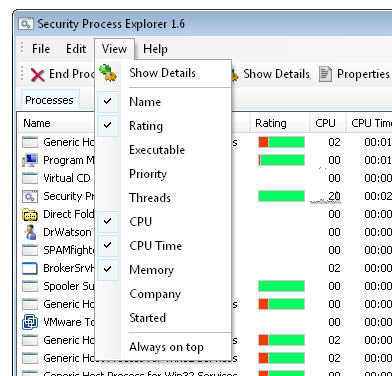 Security Process Explorer