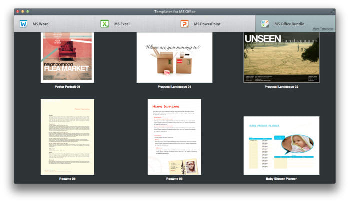 Templates for MS Office for Mac - Download