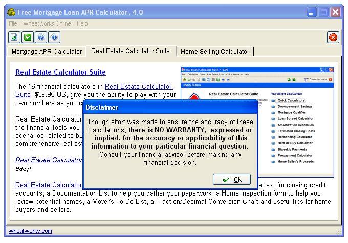 Free Mortgage Loan APR Calculator - Download