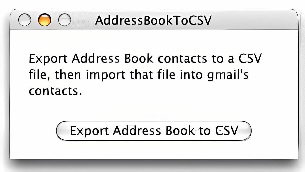 AddressBookToCSV