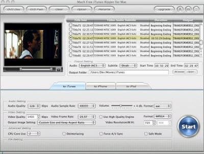 MacX Free iTunes Ripper for Mac