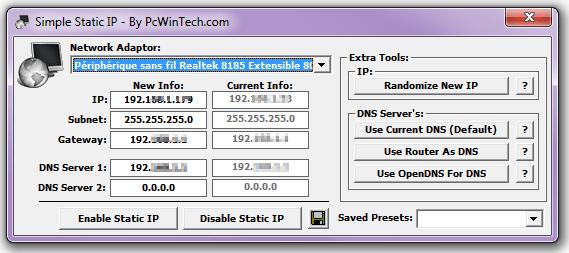 Simple Static IP
