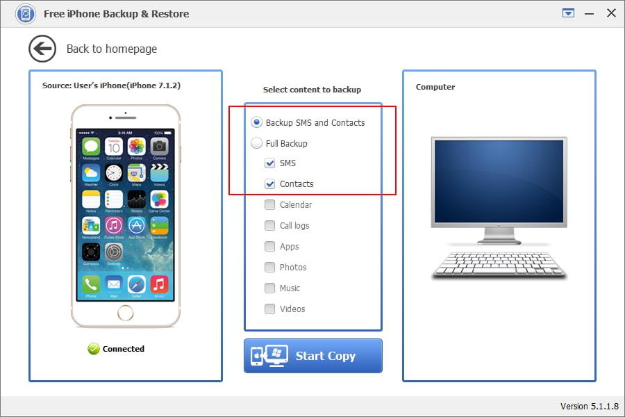 Free iPhone Backup & Restore