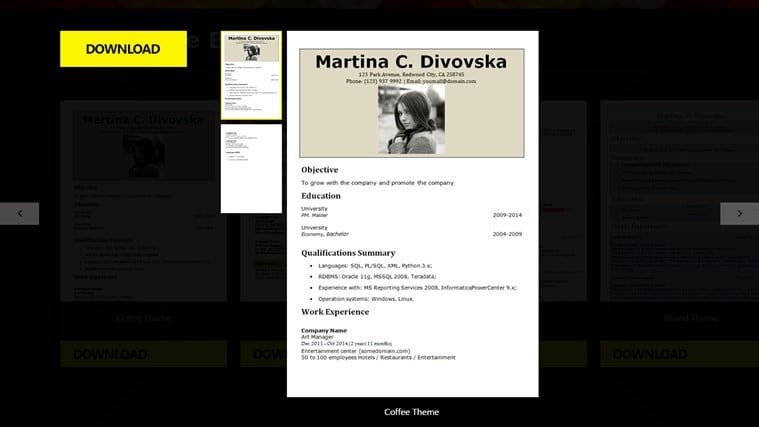 cv resume builder screenshotjpg