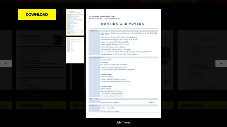 Cv Resume Builder Screenshot  Resume Builder Program