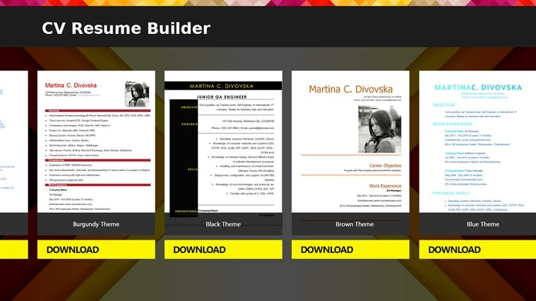 ... This App Provides An Easy Template System With A Range Of Features To  Ensure That Users End Up With Their CVs At The Top Of The Pile.  Resume Building App