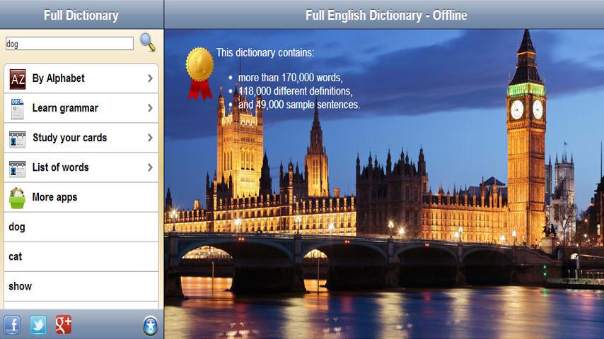 Full English Dictionary - Offline
