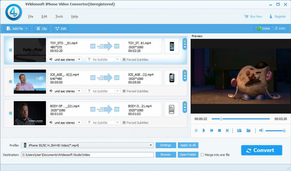 4Videosoft iPhone Video Converter