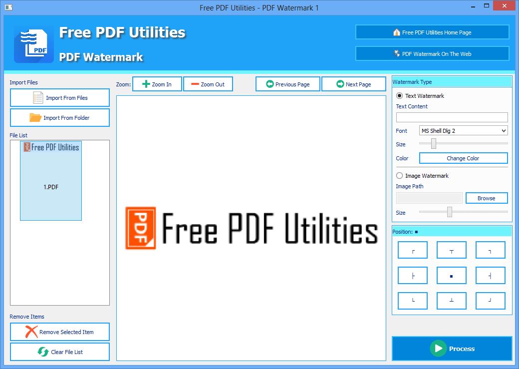 Free PDF Utilities - PDF Watermark