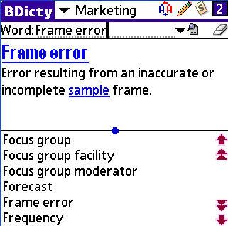 BDicty Marketing Terms Dictionary for Palm OS