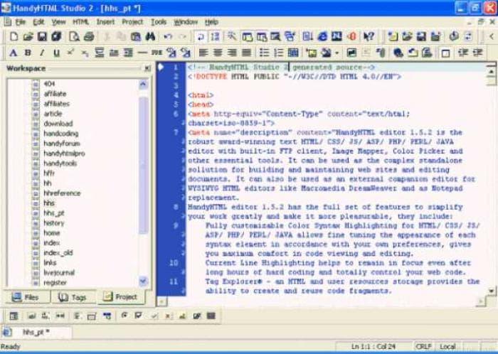 HandyHTML Studio