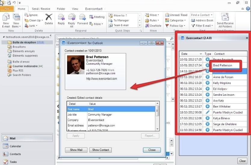 Evercontact for Outlook