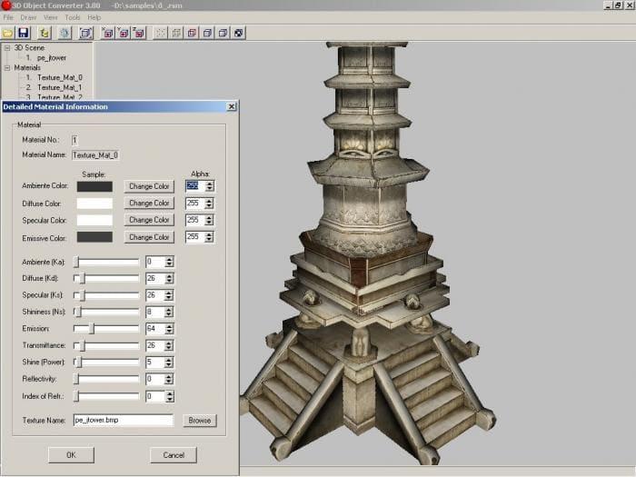 Associations of the program 3D Object Converter